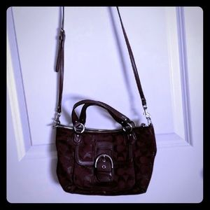 Burgandy authentic coach purse used